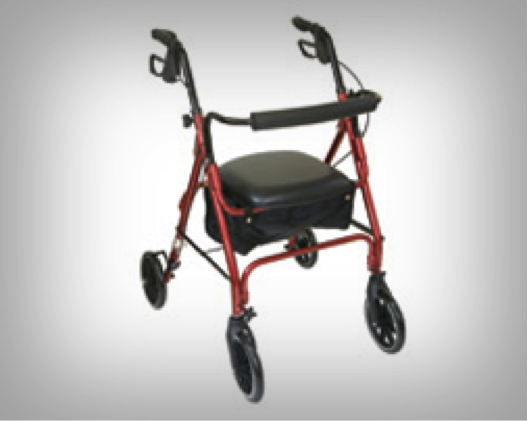 Rollator: We supply a varied range of rollators in different sizes and heights.
