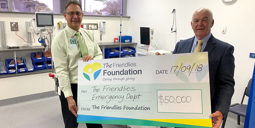 Emergency Department Cheque presentation